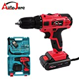 Autojare-Cordless Drill Kit 18V Two-speed Power Electric Drill Driver with LED Light + Rechargeable Battery
