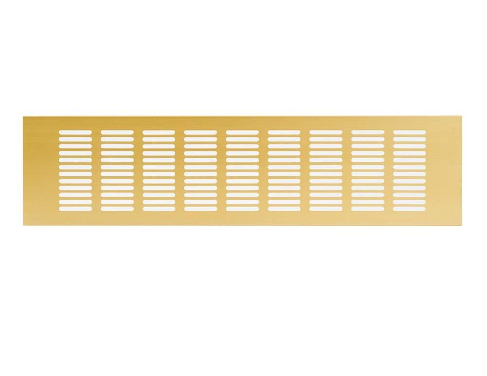 de aluminio Rejilla rejilla Muebles rejilla ventilaci/ón ra1040g Rejilla de ventilaci/ón Oro Aluminio 100/x 400/mm ventilaci/ón