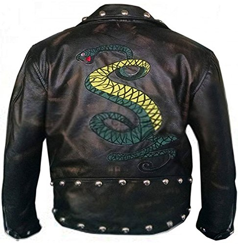 Price comparison product image Snakes Rule Fallout 3 Game Tunnel Real Distressed Leather Costume Jacket