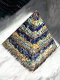 Large Lapis Lazuli, Amazonite, Quartz, & Gold Flake Orgone Pyramid
