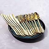 Nervure 200PCS Gold Plastic Silverware