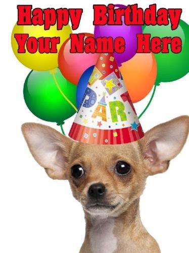 Perro Chihuahua Tarjeta de parte codechi cumpleaños A5 ...