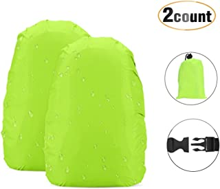 AGPTEK Backpack Rain Cover High Visibility for Outdoor Activities 2-Pack Green (S:10-17L),(M:26-40L)