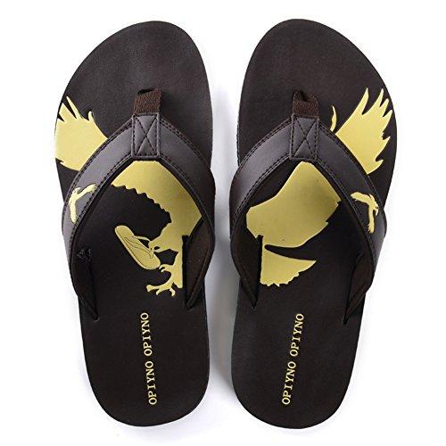 End of summer mens soft slippers/Non-slip wear beach shoes/Flip sandals