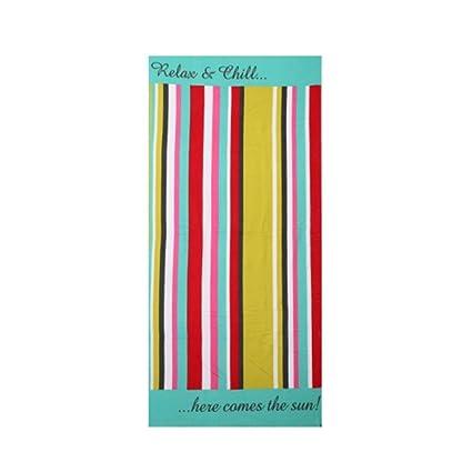 Toallas de playa rayas arco iris grande microfibra para adultos niños 70 x 150 cm Ideal