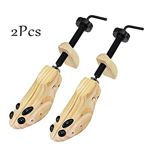 Zamango Pair of Premium Professional 2-way Cedar Shoe Trees Wooden Shoe Stretcher Shaper for Woman's Size 3.5--7 Stretches Length & Width(Small) by Zamango