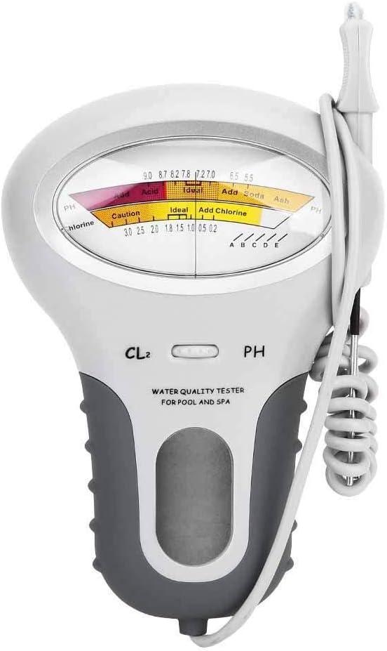 MAGT qualit/é de leau testeur pH-m/ètre//CL CL2 Chlore Testeur D/étecteur deau for piscine aquarium deau PH m/ètre