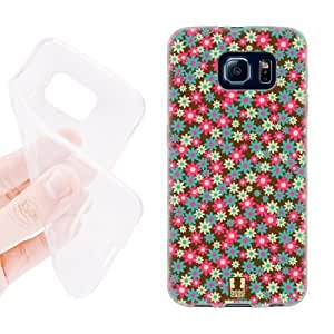 Head Case Designs Carnation Pink Ditsy Floral Patterns Soft Gel Back Case Cover for Samsung Galaxy S6 G920, Galaxy S6 Duos