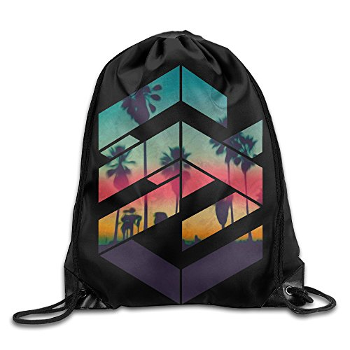 SUPMOON Geometric Sunset Beach Personality Drawstring Bags (Halloween Colorado 2016)
