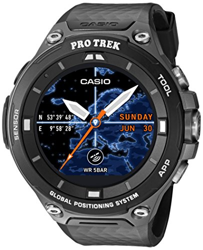 Casio Men's 'PRO TREK' Quartz Resin Outdoor Smartwatch, Color:Black (Model: WSD-F20-BKAAU)