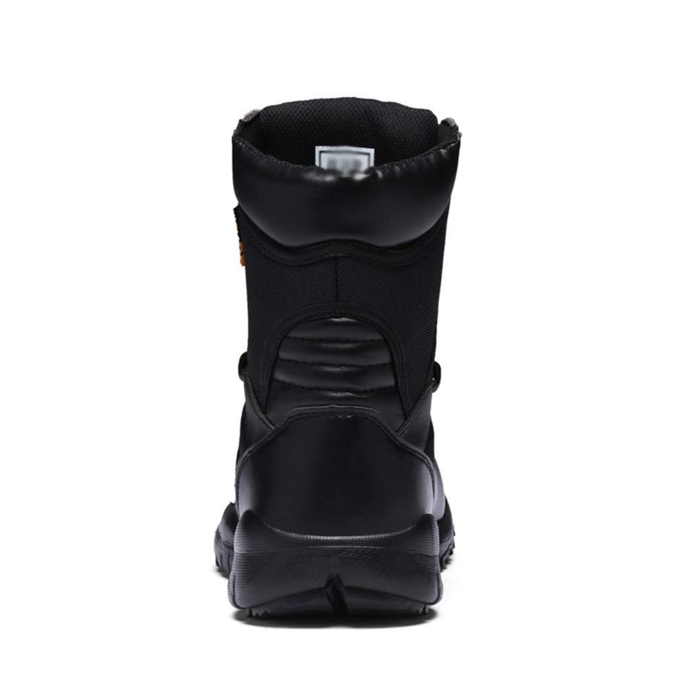 KUKI Bottes pour Hommes Moto Chaussures D/équitation Automne Et Hiver Hors-Route Imperm/éables /À Lautomne Chevalier Bottes De Moto Bottes De Course Respirant Bottes De Combat