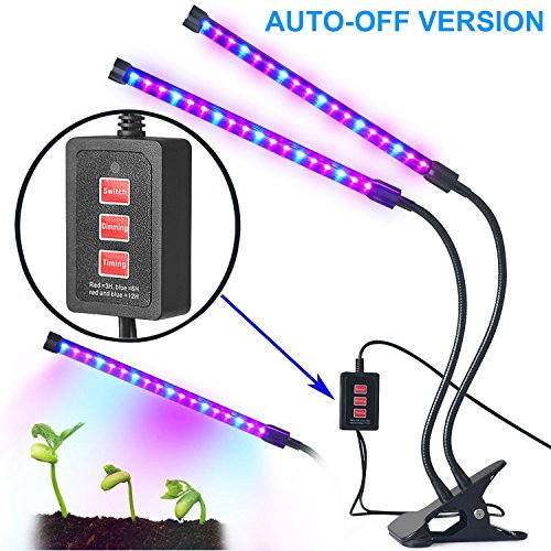 Adjustable Plant (Dual-lamp Grow Light Aotson 36LEDs Adjustable 3 Modes Timer(3H/6H/12H) Dimmable 4 Levels Grow Lamp Lights Bulbs with Flexible 360 Degree Gooseneck for Indoor Plants Hydroponics Greenhouse Gardening)