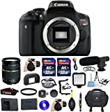 Canon EOS Rebel T6i 24.2MP Full HD 1080p Video Digital SLR Camera Bundle with Tamron AF 28-75mm f/2.8 Autofocus Lens & 2 Pieces Transcend 32GB High Speed SDHC Memory Cards + Video Kit (18 items)