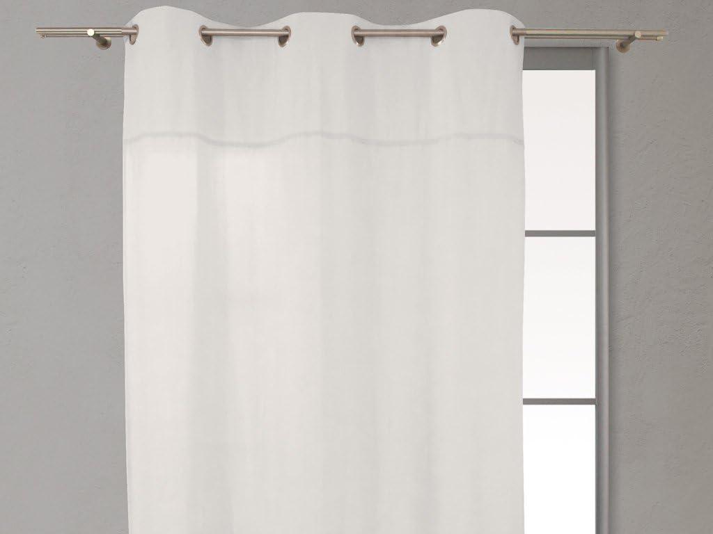 Soleil docre 031703 Cortina con anillas integradas algodón puro DENTELLE, Lino, 140 x 240 cm: Amazon.es: Hogar