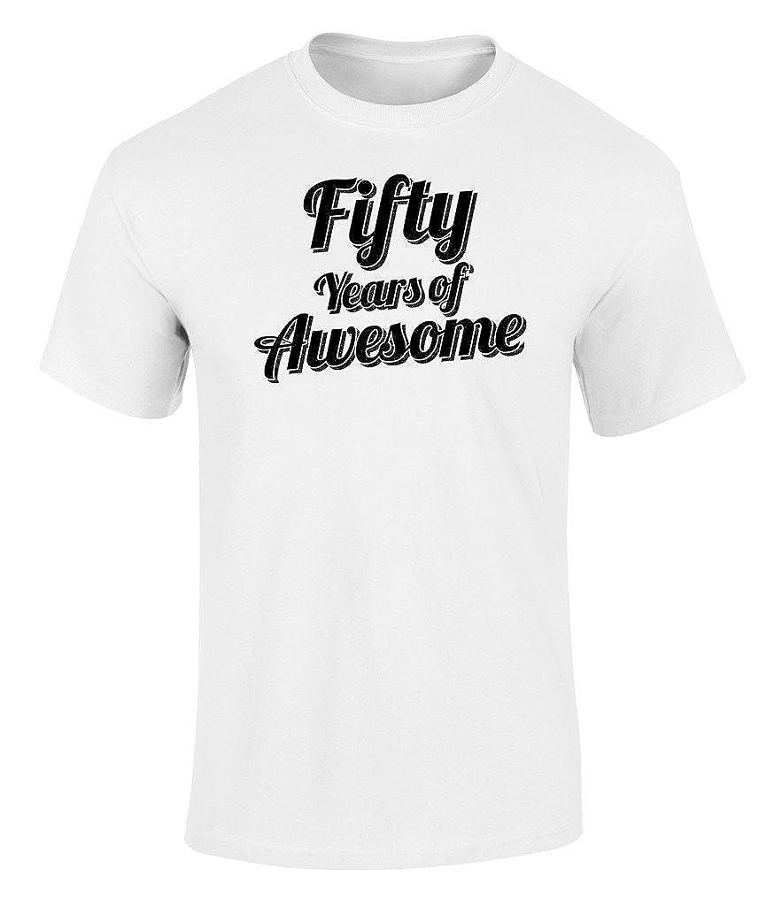 Camiseta de 50 años de Asombroso para Hombre y Mujer con ...