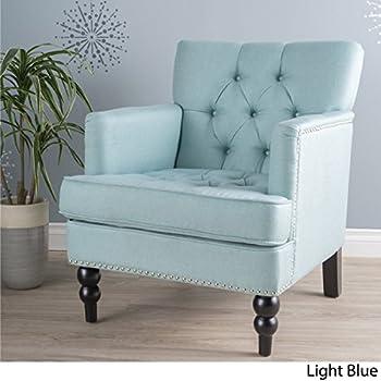 Medford Light Blue Fabric Club Chair