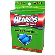 HEAROS Xtreme Protection Series Ear Plugs, Blue, 56 Pair