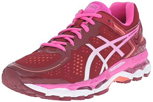ASICS Women's Gel Kayano 22 Running Shoe, Deep Ruby/White/Pink Glow, 7.5 M US by ASICS