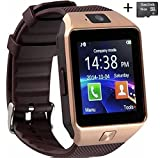 Amazingforless Bluetooth Touch Screen Smart Wrist Watch with Camera and 16GB Micro SD Card - Rose Gold