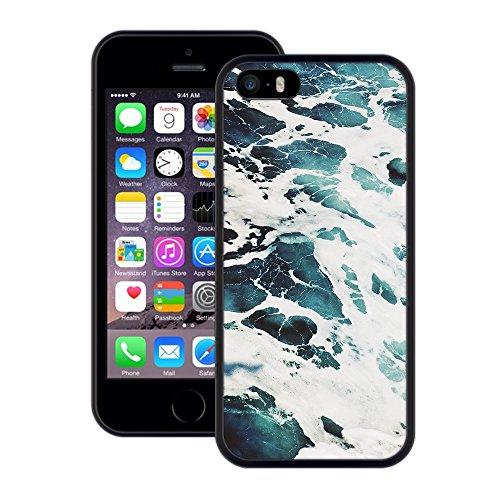 Wasser, Meer, | Handgefertigt | iPhone 5 5s SE | Schwarze Hülle