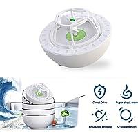 Mini ultrasonic dishwasher, portable fully automatic household sink dishwasher, USB rechargeable fruit and vegetable…