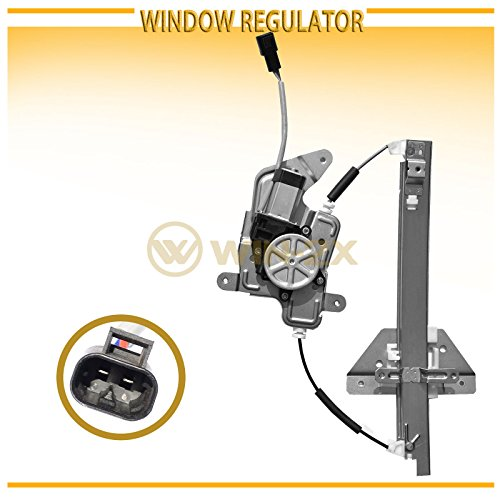WIN-2X New 1pc Rear Driver (Left) Side Power Window Regulator & Motor Assembly Fit 99-04 Oldsmobile Alero 99-05 Pontiac Grand Am 4-Door Sedan With Electric Window Lifters (Window Am Power Motor)
