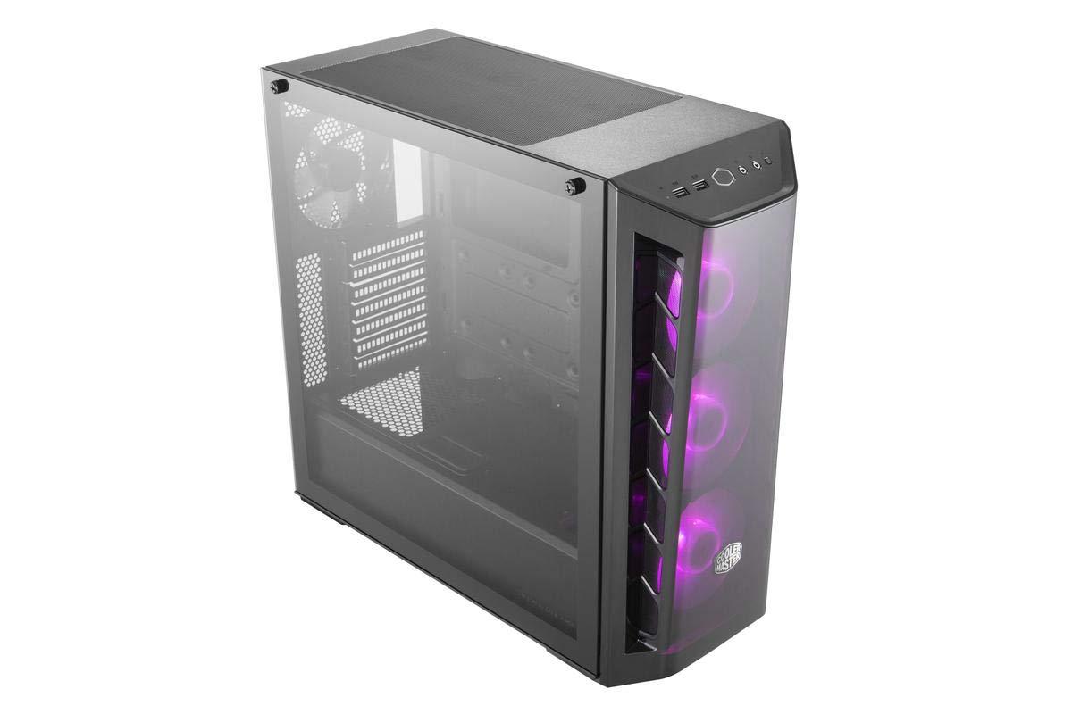 Midi-Tower, PC, De pl/ástico, Acero, Vidrio Templado, Negro, ATX,Micro ATX,Mini-ITX, Juego Cooler Master MasterBox MB520 RGB Midi-Tower Negro Caja de Ordenador