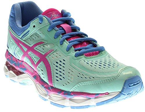 Price comparison product image ASICS Gel Kayano 22 GS Running Shoe (Little Kid/Big Kid), Ice Blue/Pink Glow/Marina, 6 M US Big Kid