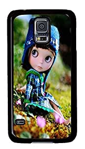 S5 Case, Galaxy S5 Case, Samsung Galaxy S5 Case - Hard PC Protective Cute Doll Lovely Case Black Cover Heavy Duty Protection Shock-Absorption / Impact Resistant Slim Case for Galaxy S5 / Galaxy SV / Galaxy S V / Galaxy i9600