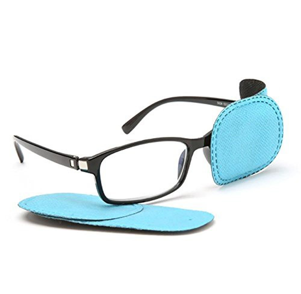 1Pair Amblyopia Eye Patches for Glasses,Treat Lazy Eye,Kids Eye Patch,Strabismus, Lazy Eye Patch for Children (blue)