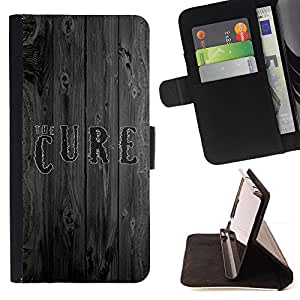 BullDog Case - FOR/Samsung Galaxy Note 4 IV / - / The Cure Wood /- Monedero de cuero de la PU Llevar cubierta de la caja con el ID Credit Card Slots Flip funda de cuer