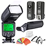 Generic High Speed Sync i-TTL Camera Master/Slave Flash Kit for Nikon Cameras, Includes: NW982N-II Flash, Diffuser, 3-in-1 2.4Ghz Wireless Trigger, 35-Color Gel Filter Set, Case, N1/N3 Cord Cables