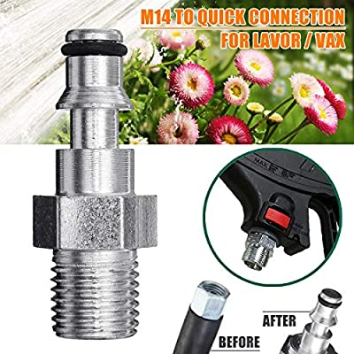 Hose Adapter For Lavor Vax,M14 Recessed Quick Insert TOOGOO Quick Connection Pressure Washer Cleaning Kits Car & Motorbike Care