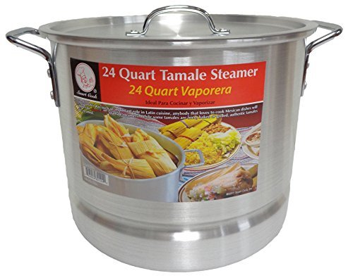 24 Qt Tamale Steamer Vaporera Stock Pot Premium Aluminum Tamalera 6 ()