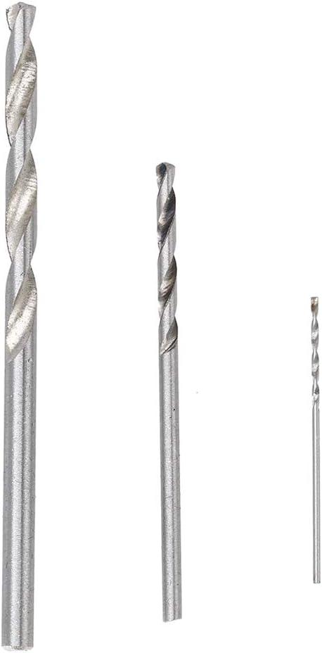 Micro Mini Twist Drill Bits Set with Precision Hand Pin Vise Rotary Tools for Wood Jewelry 0.5-3.0mm 25PCS FASTROHY Pin Vise Hand Drill Bits Plastic etc AETXJS