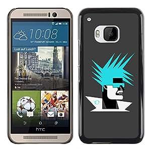Abstract Portrait - Metal de aluminio y de plástico duro Caja del teléfono - Negro - HTC One M9