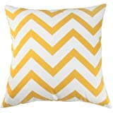 UOOPOO Chevron Design DecorativePillow Cover 18 x 18 Inches Square Cushion Cover for Sofa One Side
