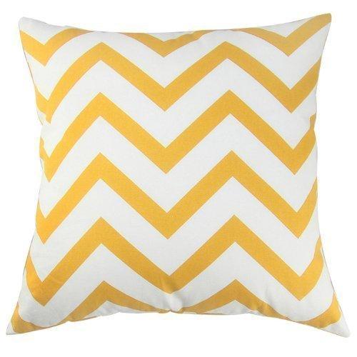 Decorative Throw Pillow Cover Canvas Cotton Chevron Design 18 X 23 in. (Aqua Blue) Decor Scandinavia