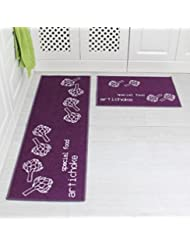 Awesome The Kitchen Floor MATS Strip Antiskid Suction Machine Washable Enter The  Hall Floor Mat Bath Mat Bedroom Bed Pad Carpet (40x120CM, Purple)
