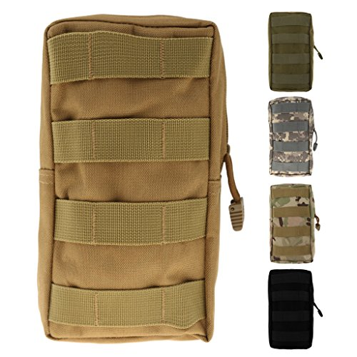 Qianghong Tactique Modulaire Pochette Sac Utilitaire Accessoire Militaire - Taille unique, Noir 3