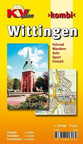 Wittingen: 1:12.500 Stadtplan mit Freizeitkarte 1:25.000 inkl. Radrouten (KVplan-Kombi-Reihe)