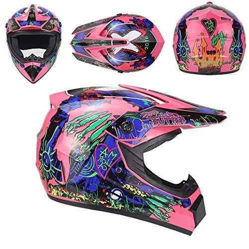 Fire Run Motocross Helmets Offroad Helmet Gloves Goggles DOT Certification Motocross Helmet Motorcycle ATV Dirt Bike Dc Star Visor Beanie