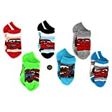 Disney Cars Boys 6 pk Socks ((shoe size: 10.5-4), McQueen & Mater 6-8)