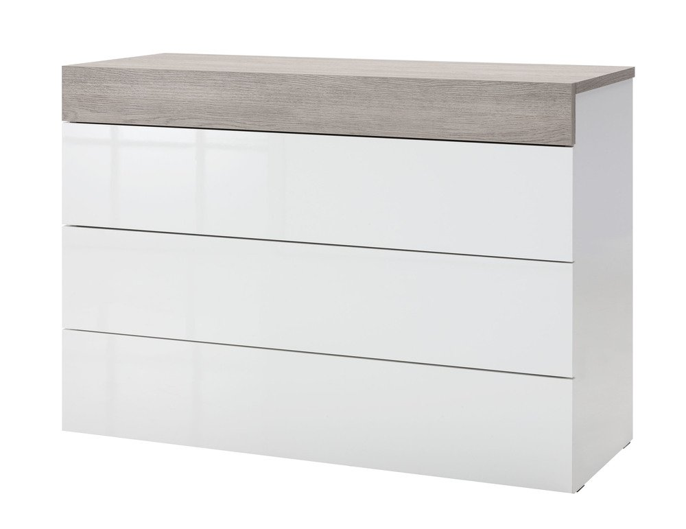 Cassettiera laccata bianca a quattro cassetti: Amazon.it: Elettronica