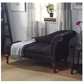 Amazon Com Black Storage Chaise Lounge Sofa Chair Couch