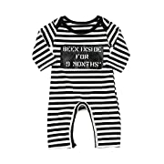 0-24M Toddler Kids Baby Girl Stripes Letter Jumpsuit Romper Overalls Pants Outfits Clearance Yamally (0-6 Months, Multicolor)
