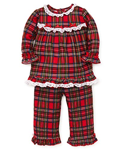 Little Me Baby Girl's Sleep Set Sleepwear, christmas plaid, 24 Months -