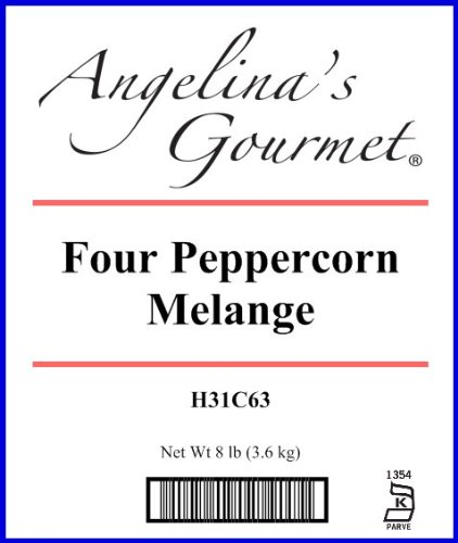 Peppercorns Blend, Four - 8 Lb Bag / Box Each by Angelina's Gourmet (Image #1)