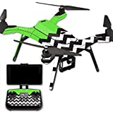 MightySkins Protective Vinyl Skin Decal for 3DR Solo Drone Quadcopter wrap cover sticker skins Lime Chevron
