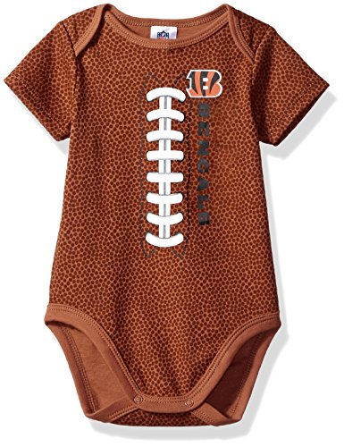 NFL Cincinnati Bengals Unisex-Baby Football Bodysuit, Brown, 0-3 Months